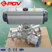 Quality Ball Valve Y-type 135 Degree Pneumatic Three-way Ball Valve wholesale