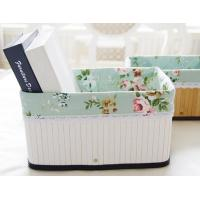 Buy cheap Kitchenware Bamboo Storage Basket With Fabric from wholesalers