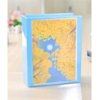 China Leather Portfolio Series Blue Vinyl 4 pin binder with insert pocket for A4 paper files on sale
