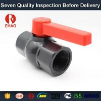 "China 2-1/2"" pvc one way ball valve threaded FPT x FPT PVC valve on sale"