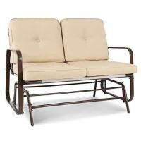 China Best Choice Products 2 Person Loveseat Glider Rocking Chair Bench Patio Deck Furniture on sale