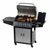China Master Cook Outdoor BBQ 4-Burner Cabinet Propane Gas Grill with Side Burner on sale