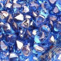 Quality Stanbroil 10-Pound 1/2 Inch Fire Glass Diamonds for Fireplace Fire Pit, Royal Cobalt Blue Luster wholesale