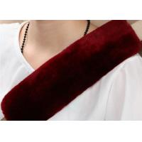 China OEM Dyed Colors Car Seat Belt Covers Shoulder PadsWith Long Soft Wool on sale