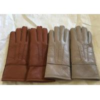 China Windproof Men'S Shearling Sheepskin Gloves, Thick Fur Lined Leather GlovesMittens on sale
