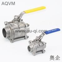 Quality 3 PCS BW/SW BALL VALVE WITH LOCK HANDLE wholesale