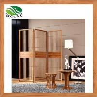 Quality Modern Solid Bamboo Wood 3-Panel 4-panel Folding Screen Room Divider wholesale