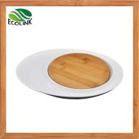 Quality Bamboo & Ceramic Cheese Board / Oval Ceramic Serving Tray wholesale