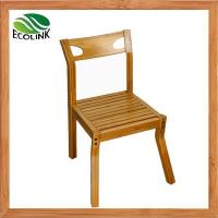Quality Natural Simple Solid Bamboo Side Arm Restaurant Chair for Dining and Kitchen wholesale