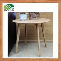 Quality Decorator Modern Simple Bamboo Wood Round Side End Sofa Occassional Table in Natural Color wholesale