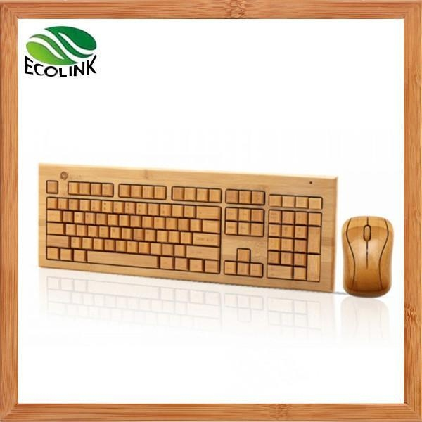 Cheap 100% Bamboo Handcrafted Handmade Wireless Keyboard and Mouse Combo for sale