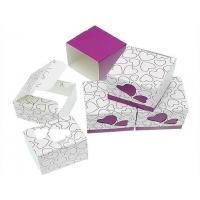 Quality Gift Candy Box Dark Purple Wedding Party Heart Favor Laser Cut Paper wholesale