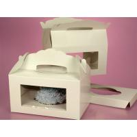 Window Gable Cupcake Boxes With Insert Gift Box