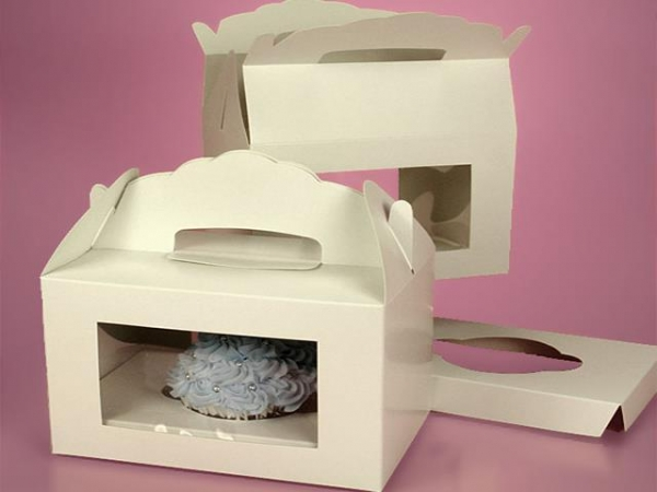 Cheap Window Gable Cupcake Boxes With Insert Gift Box for sale