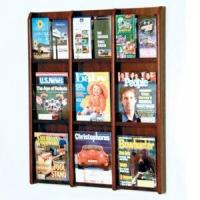 Quality 9 Magazine/18 Brochure Wall Display with Brochure Inserts - Mahogany wholesale