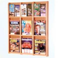 Quality 9 Magazine/18 Brochure Wall Display with Brochure Inserts - Light Oak wholesale