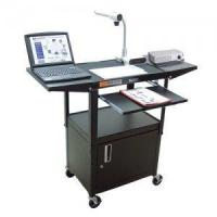 Buy cheap Audio Visual Utility Cart, Locking Cabinet, Adjustable Height, Keyboard and Laptop Shelves from wholesalers