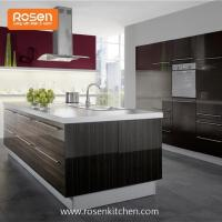 China Build in New Painting High Gloss Wood Grain Formica Laminate Kitchen Cupboards Cabinets on sale