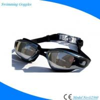 Buy cheap Prescriptional Silicone Scratch Resistant Adult Swimming Goggles with Mirrored Antifog Lens from wholesalers