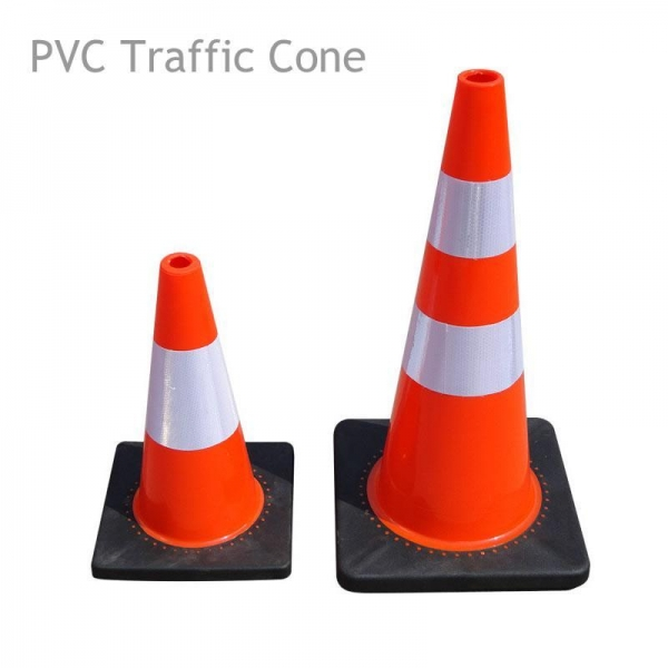 China Flexible PVC Traffic Cone with Rubber Base