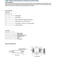 Quality Power Transmission Line Fittings S high-voltage current limit fuse wholesale