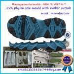 Quality EVA material injected midsole with rubber piece mold maker wholesale