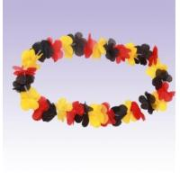 China Germany Flag Football Fans Hawaiian Artificaial Flower Necklace Leis on sale