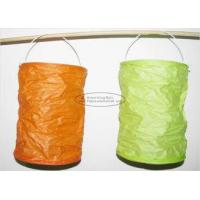 Quality Spring Lampion Paper Lanterns Craft , Outdoor Hanging Paper Candle Lanterns 10 X 15 Cm wholesale