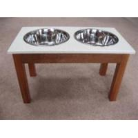 Quality Solid Surface M ahoganyRaised Dog Diner wholesale