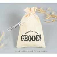 China cotton pouch small cotton drawstring pouch for promotion on sale