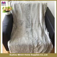 Buy cheap Back Printed Long Pile Blanket With Mink Backing from wholesalers