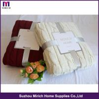 Buy cheap 100% Polyester Colorful Chenille Blanket from wholesalers