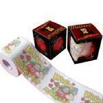 Quality Top grade virgin wood plup printed color toilet tissue roll wholesale