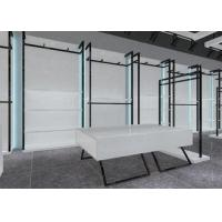 Simple Nice Men Clothing Display Case / Apparel Store Fixtures Glossy White Color