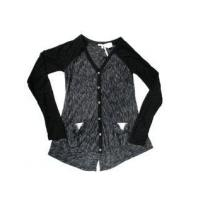 China Miss Me Black Long Sleeves Sequined Design Button Down top 7/8 10/12 on sale