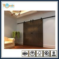 China Modern Interior sliding barn door hardware wood door system on sale