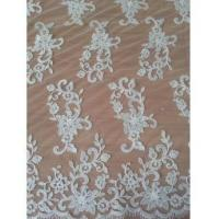 Quality Bridal Lace Fabric W9004 White Bridal Lace Fabric With Thread (W9004) wholesale
