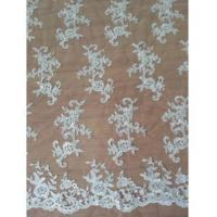 Quality Bridal Lace Fabric Gorgeous Bridal Floral Pattern Lace Fabric(W9017) wholesale