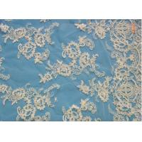 Quality Bridal Lace Fabric White Bridal Lace Fabric By The Yard (W9034) wholesale
