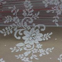Quality Bridal Lace Fabric W5324 White Embroidered Wedding Dress Lace Fabric (W5324) wholesale