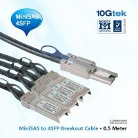 Quality MiniSAS (SFF-8088) to four SFP breakout cable, 0.5 Meter wholesale