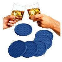 Quality Large Modern Soft Rubber Coaster Blue Reusable wholesale