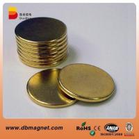 Cylinder Golden Sintered Permanent NdFeb Magnets