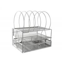 Buy cheap Mesh Desktop File Organizer with Double Tray and 5 Stackable Upright Sorter from wholesalers