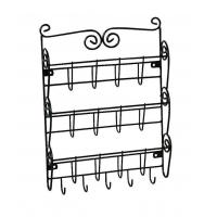 3 Tier Letter Mail Rack with Key Holder Office Kitchen Wall Mounted Organizer