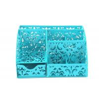 Buy cheap Office 5 Compartment Hollow Flower Pattern Desktop Organizer with Drawers Black from wholesalers
