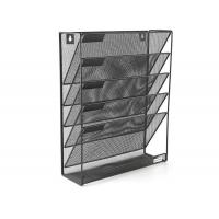 Quality Mesh Wall Mounted Hanging File Holder Organizer Literature Rack 5 Tier Black wholesale
