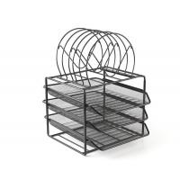 Buy cheap Mesh Metal Stackable 3 Tier Desk Document Tray Organizer from wholesalers