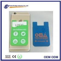China Smartphone Wallet Case Soft Silicone Card Sleeve With Custom Logo on sale