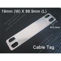 Buy cheap E1303 Stainless Steel Cable Tag (19mm x 88.9mm x Dia. 10.3mm) from wholesalers